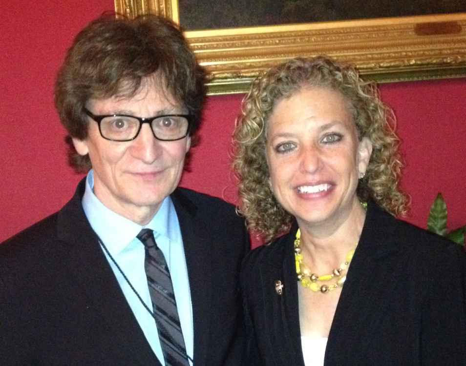 Crispin Cioe and Debbie Wasserman Schultz