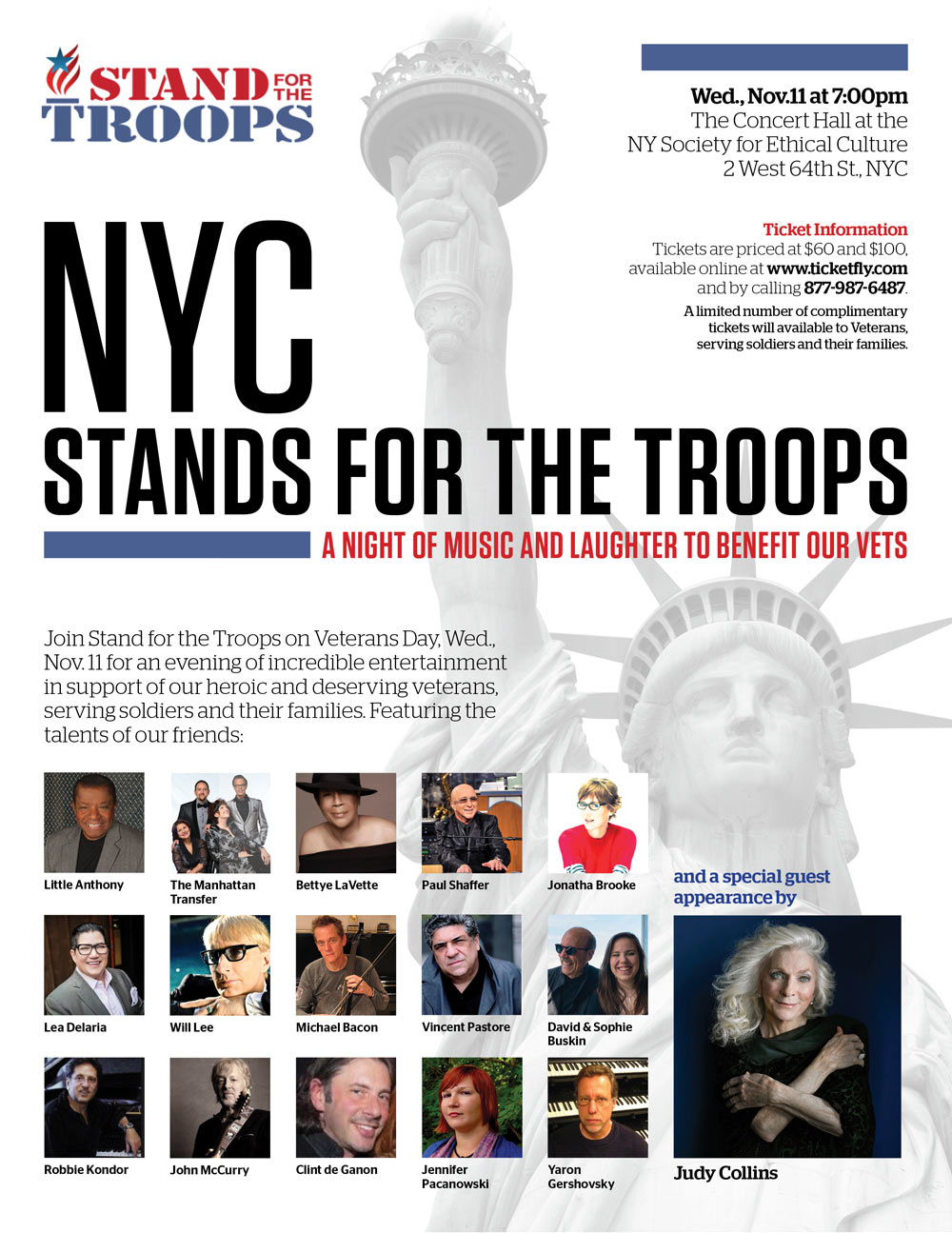 Crispin Cioe plays NYC Stands For The Troops poster